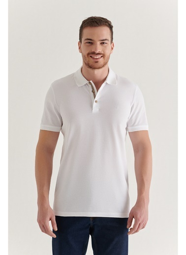 Avva Erkek  Polo Tişört A11B1174 Beyaz